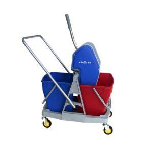 Down-Press Double Mop Wringer Trolley